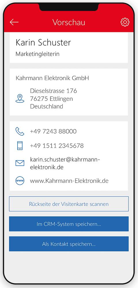 Mit dem CardScanner Kontakte in Rekordzeit erstellen